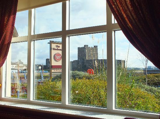 Premier Inn Carrickfergus Hotel: View from the breakfast area