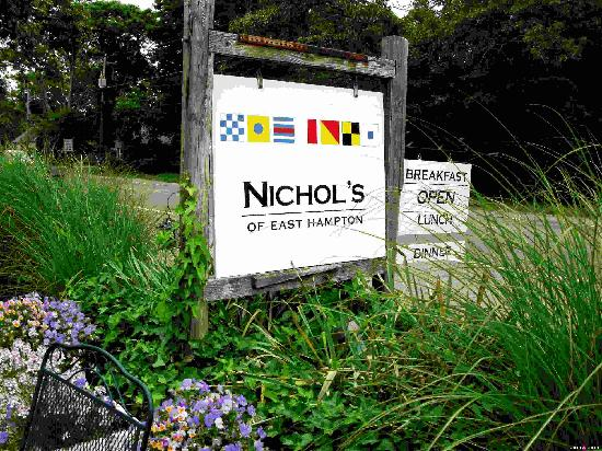 Nichol's of Easthampton: Front Sign