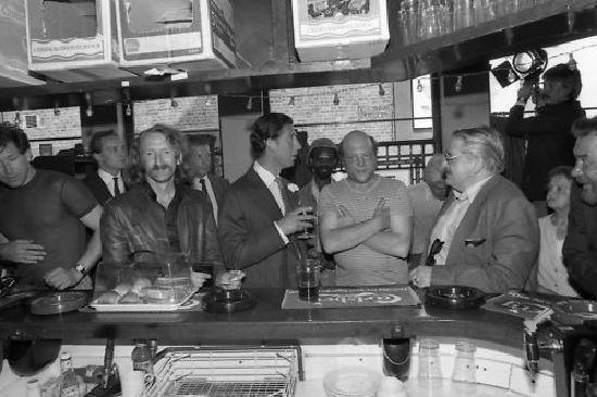 Nichol's of Easthampton: Prince Charles at Bar