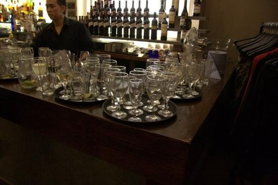 The Duke of Edinburgh Hotel: bar upstairs as if we used all those glasses