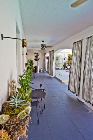 POSH Palm Springs Inn : North walkway.