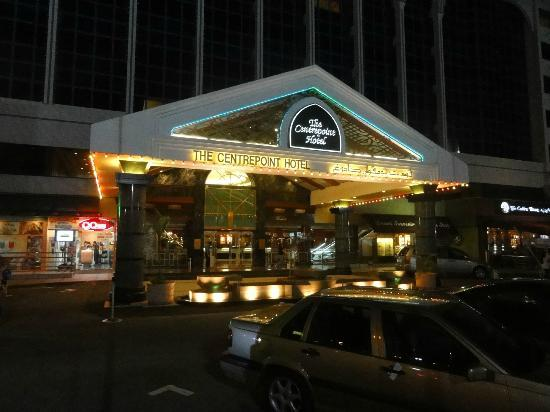 The Centrepoint Hotel: Main entrance at night