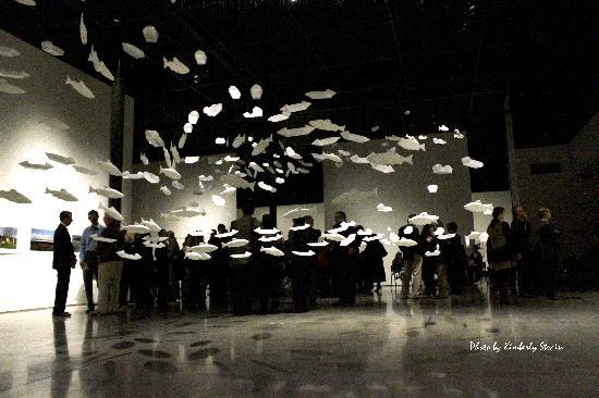 """The Reach Gallery Museum Abbotsford: Winter 2012 Exhibition,  """"Waterscapes"""", on opening night"""