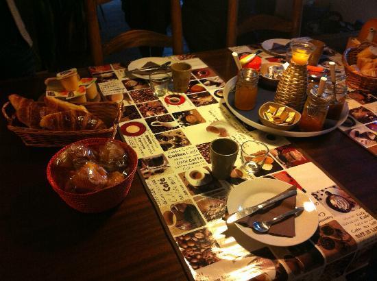 Jardin de Bacchus: breakfast