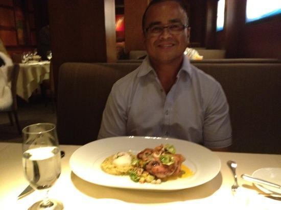 Bradley Ogden at Caesars Palace: chicken and noodles