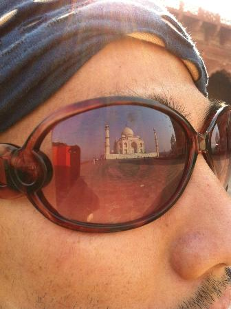 Taj Mahal: Photo  By TamonBKKThe TAJ in The Glasses
