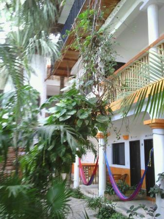 Hotel Casa Tucan: vue des balcons depuis la cour intérieure