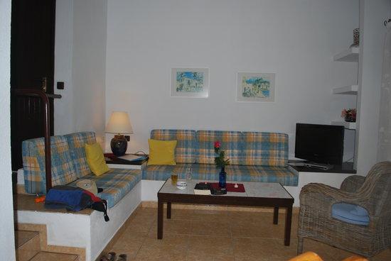 Den hyggelige stue på Monte Marina..