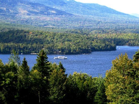 Lodge at Moosehead Lake: Watch the Katahdin float by from the Lodge on a warm summer day.