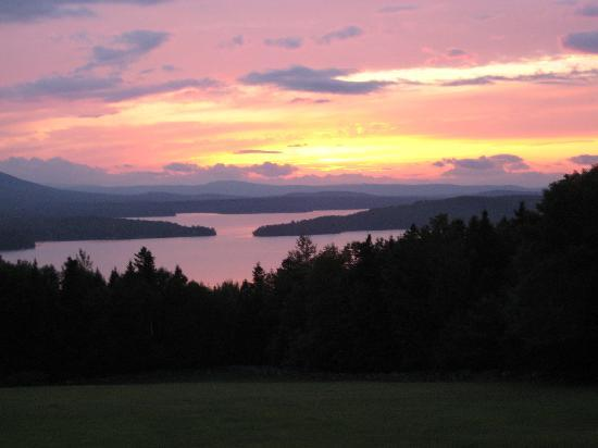 Lodge at Moosehead Lake: Summer sunset - Most Beautiful from the Lodge