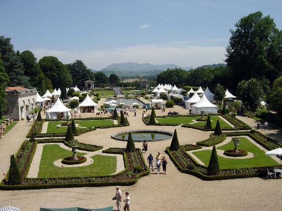 Villa Arnaga : les jardins à la française
