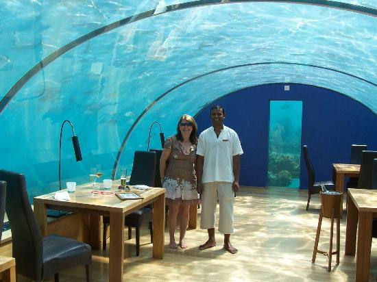 Ithaa host picture of ithaa undersea restaurant rangali for Ithaa restaurant maldives