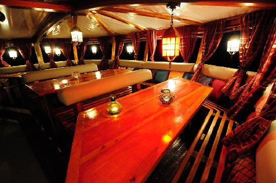 The Nomad Living's restaurant dining room.