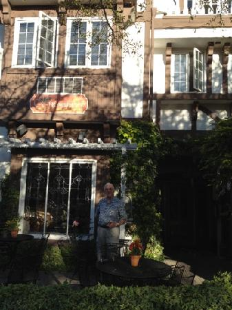 Mirabelle Inn: my father on the terrace
