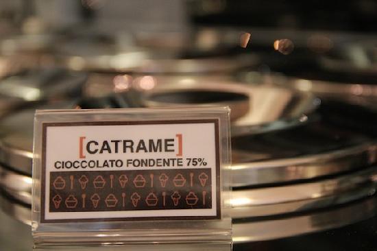 La Sorbettiera : Catrame cioccolato fondente