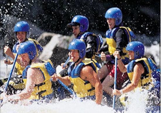 White Water Rafting NEOC: Rafters on Penobscot