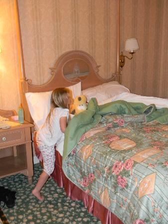 Disneyland Hotel : le lit