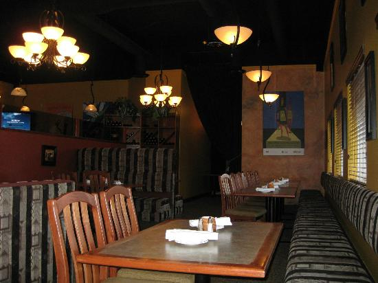 Black Iron Grill : View from the corner table