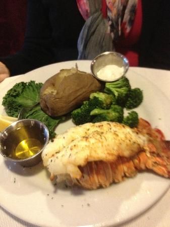 BeDillon`s Restaurant & Cactus Garden: Lobster tail with drawn butter