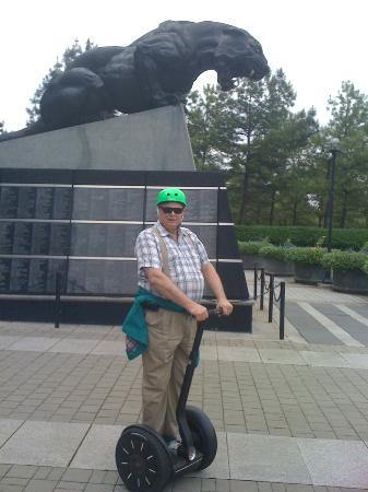Segway Experience of Charlotte: Taken at the Bank of America Stadium, one of many interesting sites on the tour