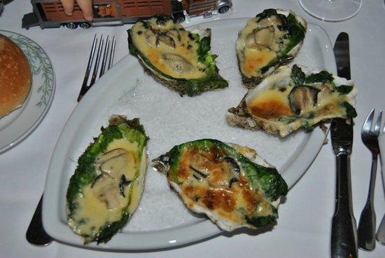Les Arcades : huîtres chaudes gratinées