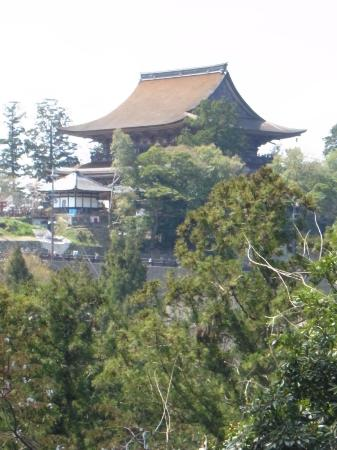 Yoshimizu Shrine: 裏庭から見た蔵王堂