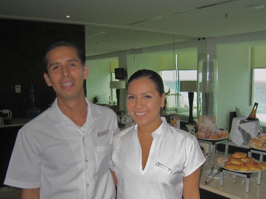 Live Aqua Beach Resort Cancun: Mitch in the Aqua Club with our Concierge