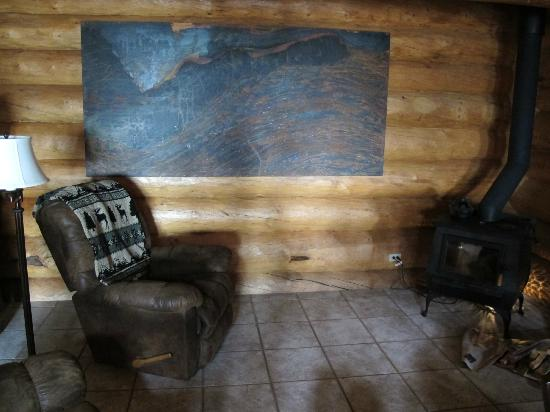 A Moose in the Garden Bed & Breakfast: Comfy chairs by the fireplace