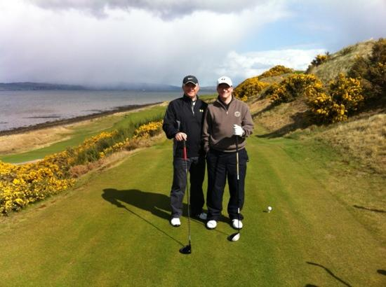 Castle Stuart Golf Links: view from 10th tee with stewy d