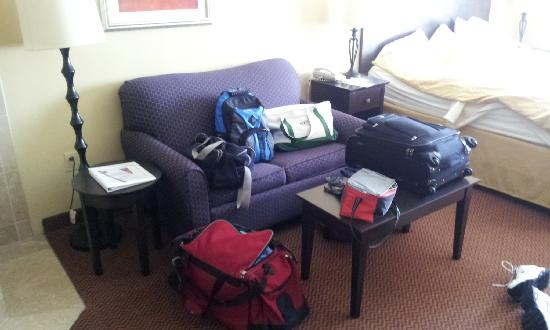 Comfort Suites East: all my stuff in my room