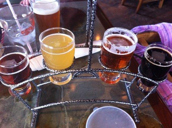 Beer sampler at The Gore Range Brewery