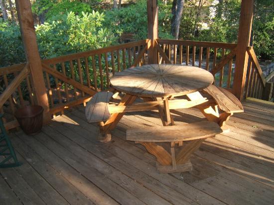 Jonathan Creek Inn and Villas: Gazebo Tables