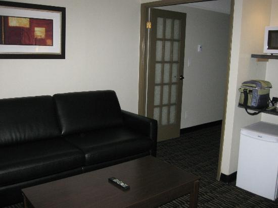 Ramada Plaza Niagara Falls: sitting are in suite
