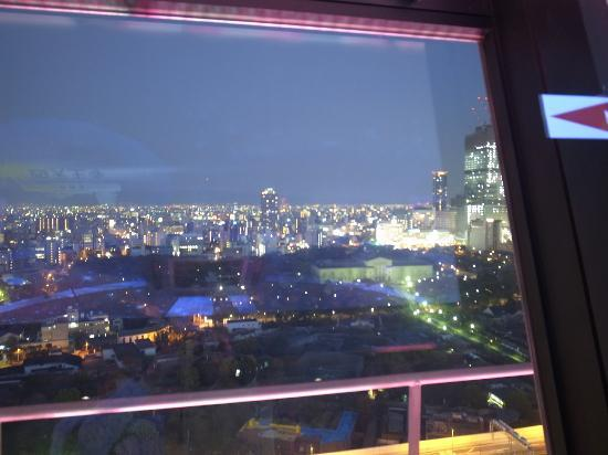 Tsutenkaku: 展望台の夕暮れ