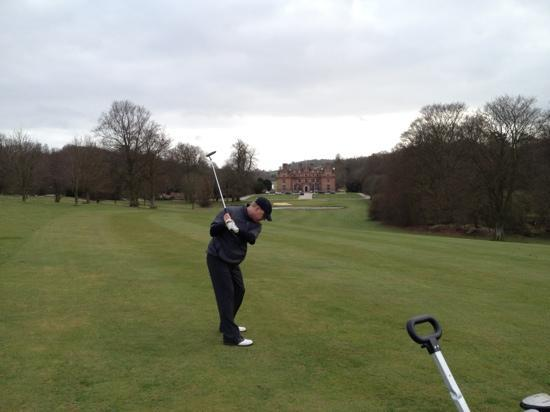 Broome Park Golf Club: last stretch on 18th