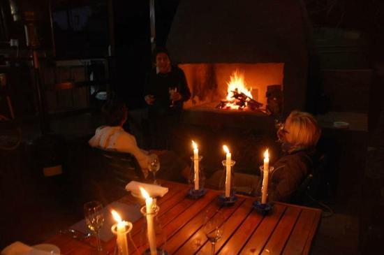 Kromme Island Lodge: Dinner mit Lagerfeuer