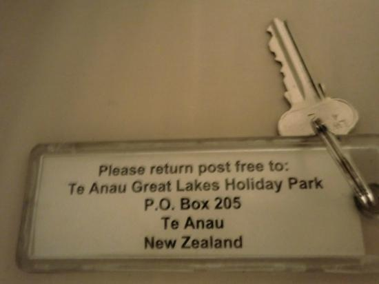Te Anau Kiwi Holiday Park: key