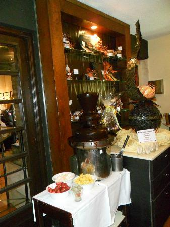Le Clos des Lys : fontaine de chocolat