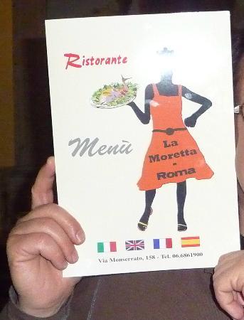 La Moretta: la carte
