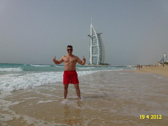 burj al arab the most luxurious hotel as seen from the beach