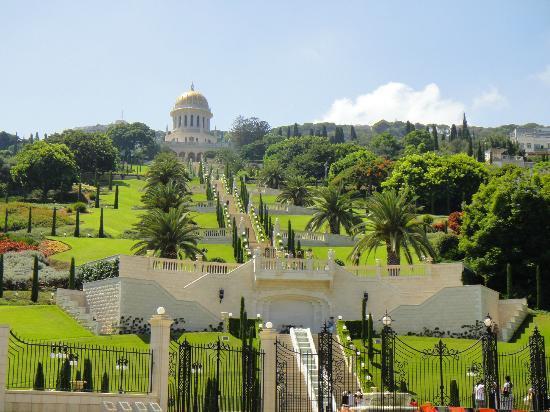Galil Hotel: Бахайсике сады в г. Хайфа