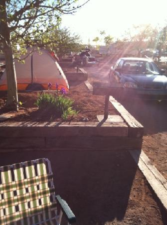 Archview RV Resort & Campground: my grill is almost next to my neighbors tent