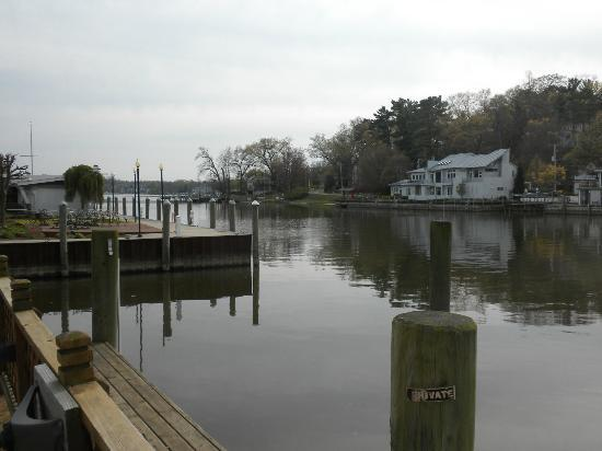 Bayside Inn : View of the river from out patio.