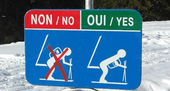 Funny sign at Mont d'Arbois - Picture of Mont d'Arbois Ski