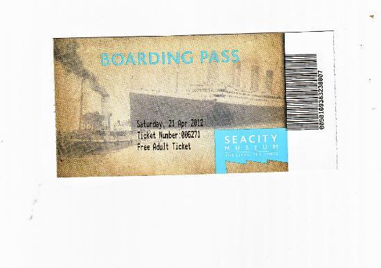 SeaCity Museum: boarding pass