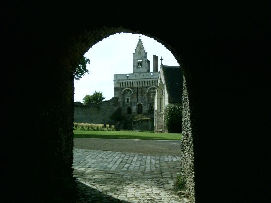 Chateau of Plessis-Mace : Thraough the archway