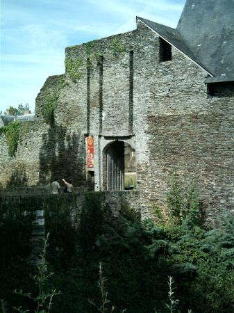 Chateau of Plessis-Mace : The main entrance over the moat