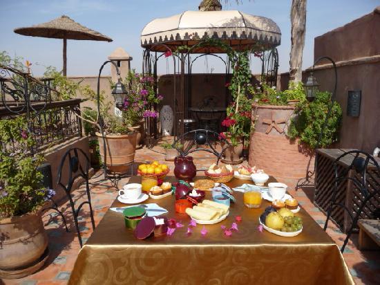 Riad Mehdia : Petit déjeuner