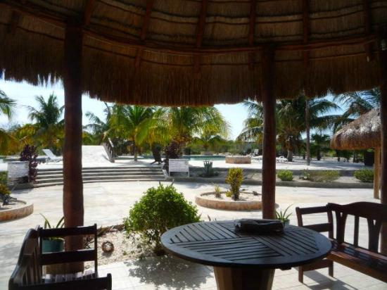 Playa Maya Resorts : This is where we logged into the Internet.