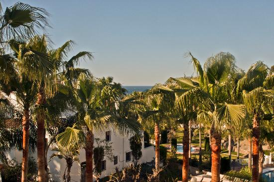 The best view in Oasis, from the balcony of Villa 19...